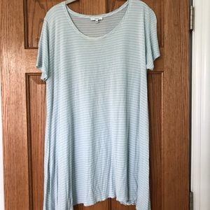 Aritzia striped blue t-shirt dress
